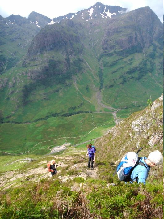 On way up to Aonach Eagach